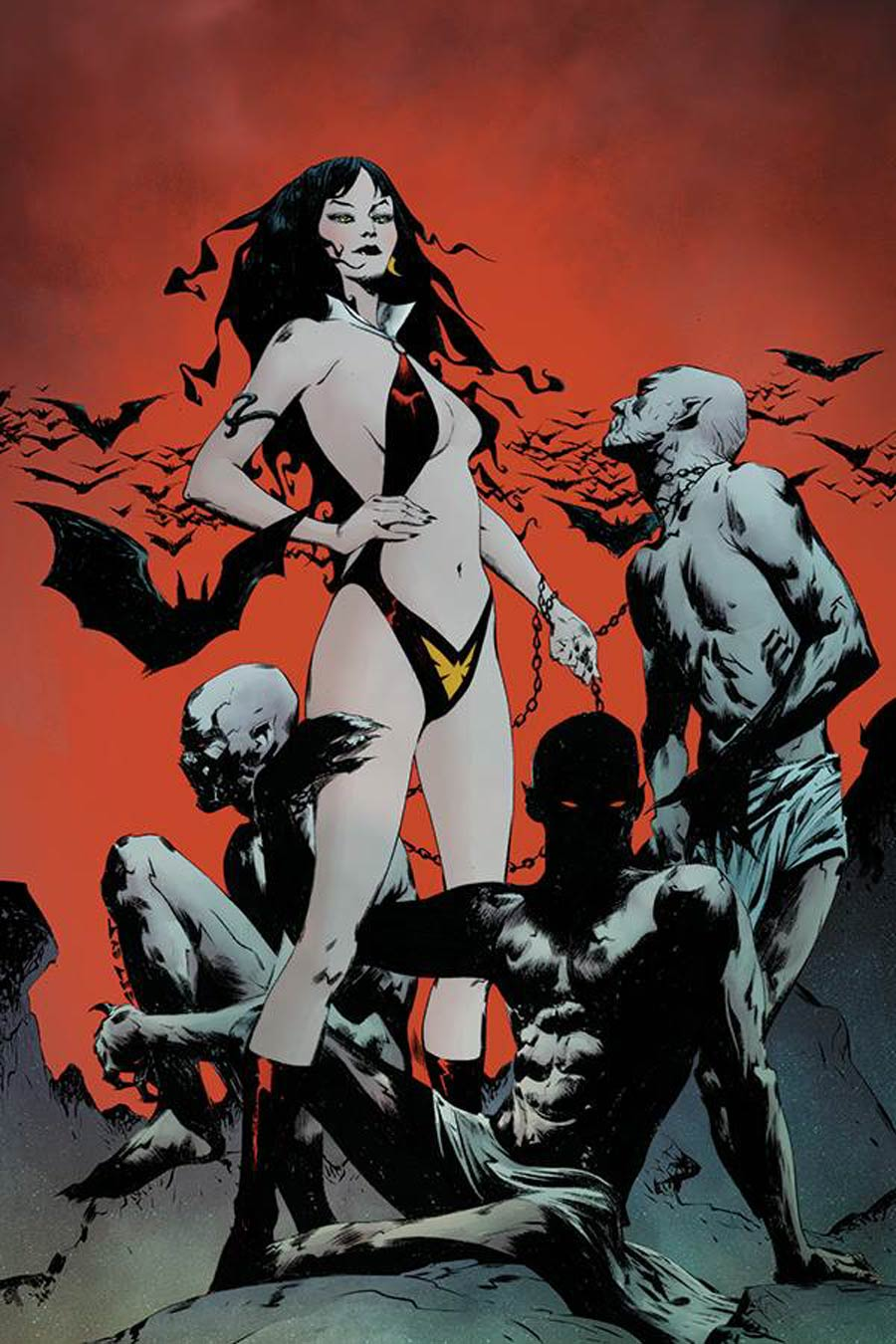 Vampirella The Dark Powers #1 Cover O Incentive Jae Lee Vampirellas Demons Alternate Color Virgin Variant Cover
