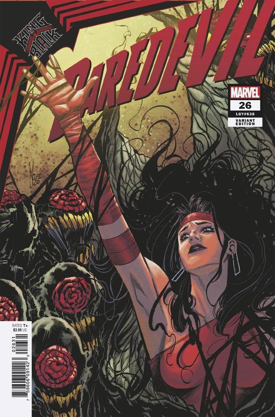 Daredevil Vol 6 #26 Cover C Variant Marco Checchetto Elektra Cover (King In Black Tie-In)(Limit 1 Per Customer)