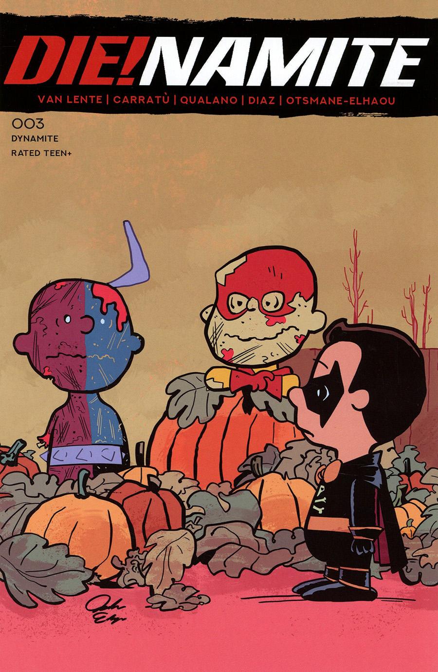 DieNamite #3 Cover G Variant Jacob Edgar Peanuts Homage Cover