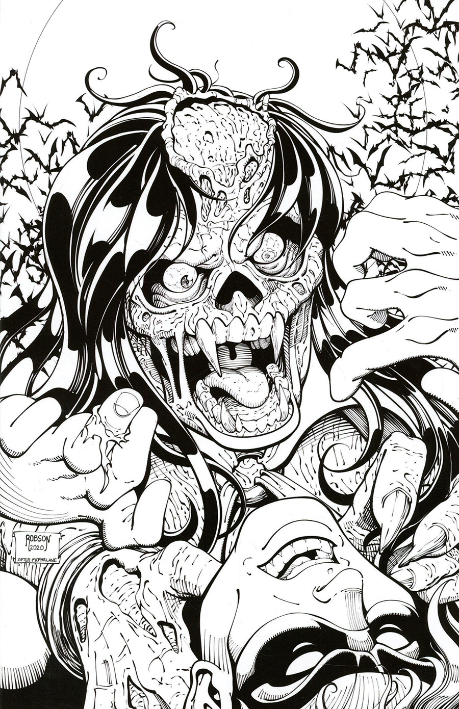 DieNamite #3 Cover O Incentive Will Robson Spider-Man Homage Black & White Virgin Cover