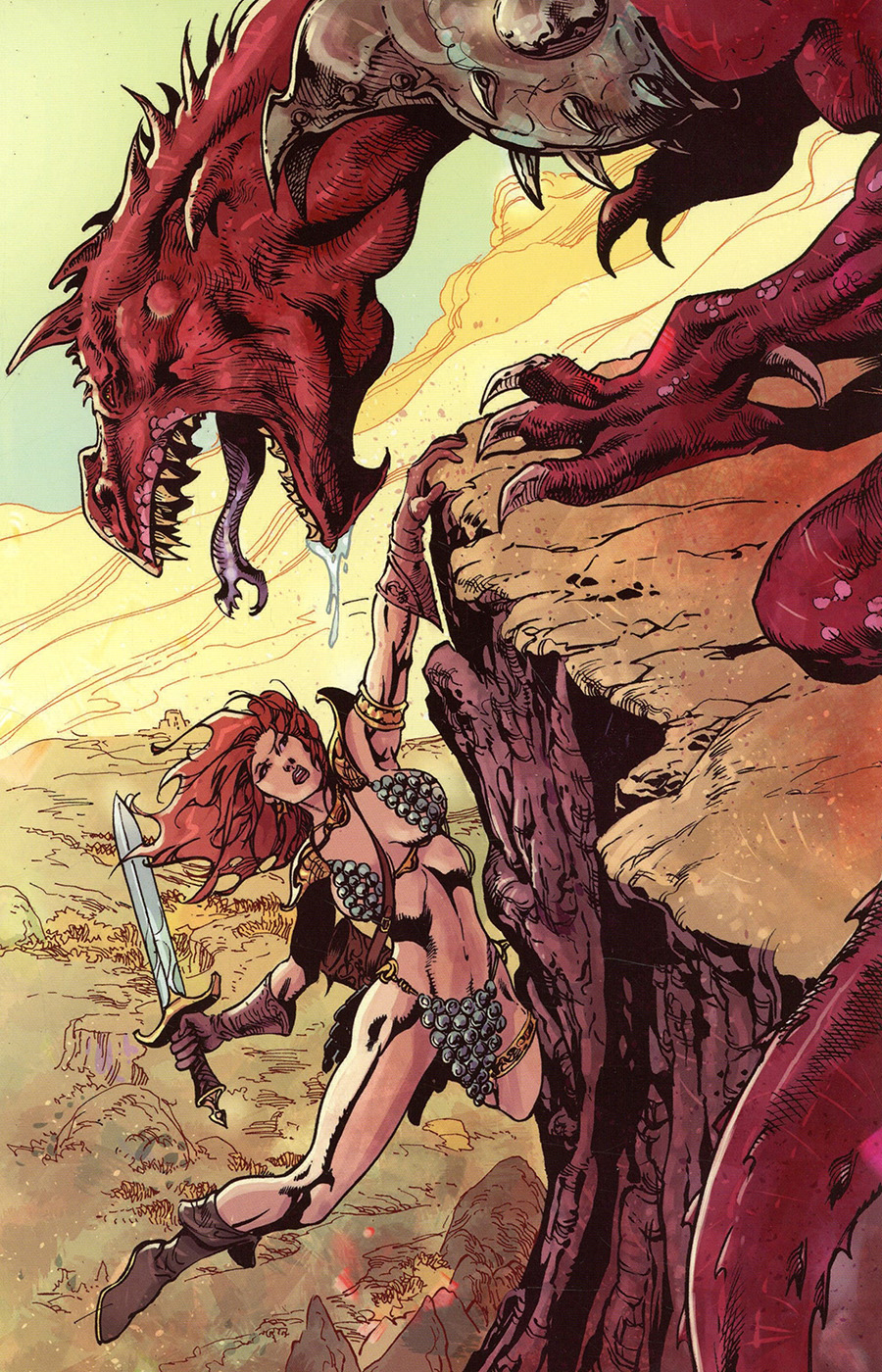 Killing Red Sonja #5 Cover F Incentive Roberto Castro Virgin Cover