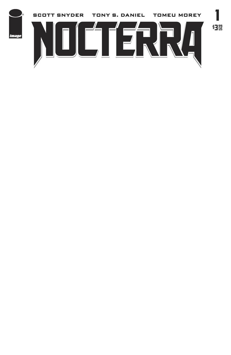 Nocterra #1 Cover E Variant Blank Cover