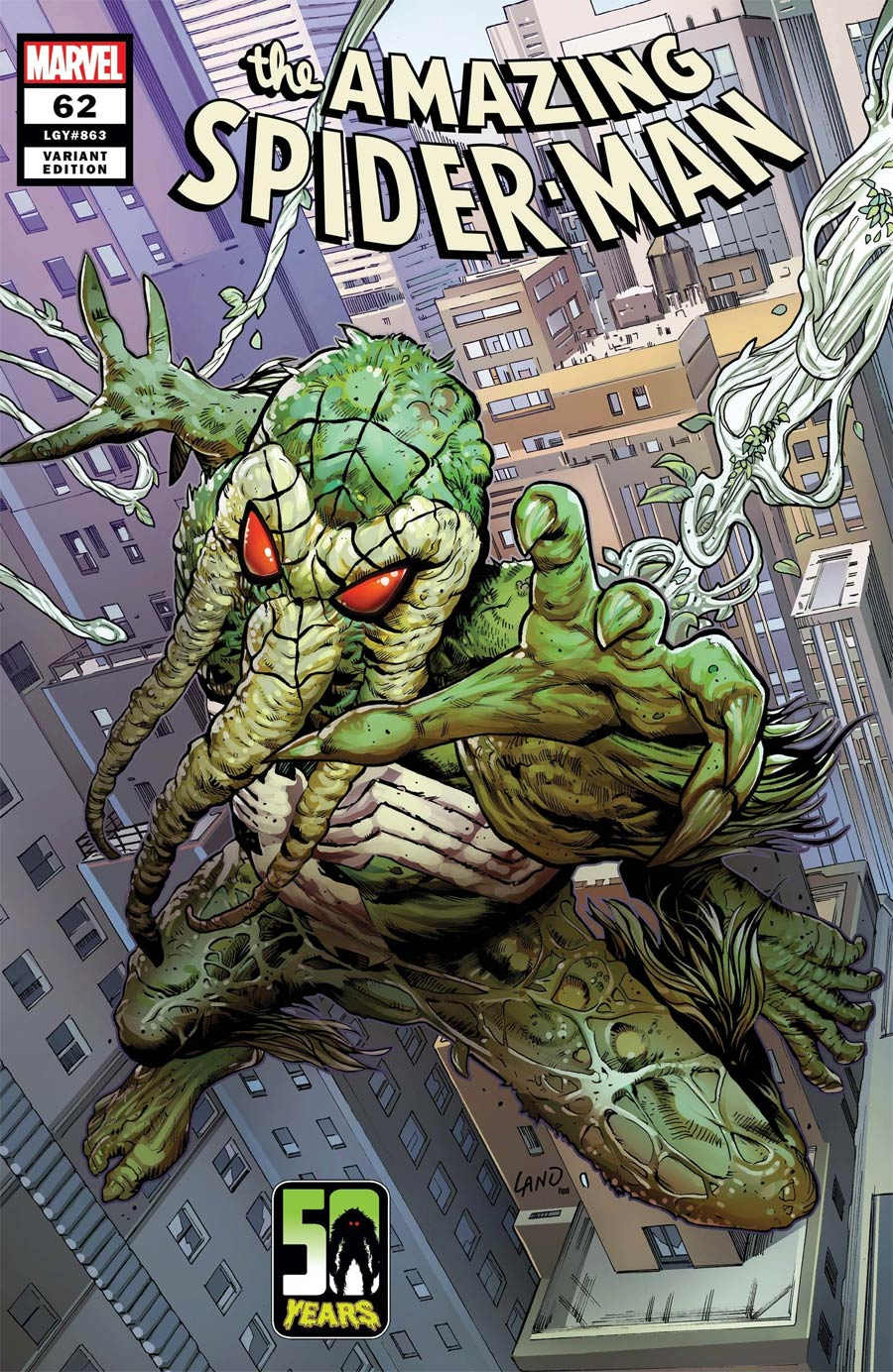 Amazing Spider-Man Vol 5 #62 Cover B Variant Greg Land Spider-Man-Thing Cover