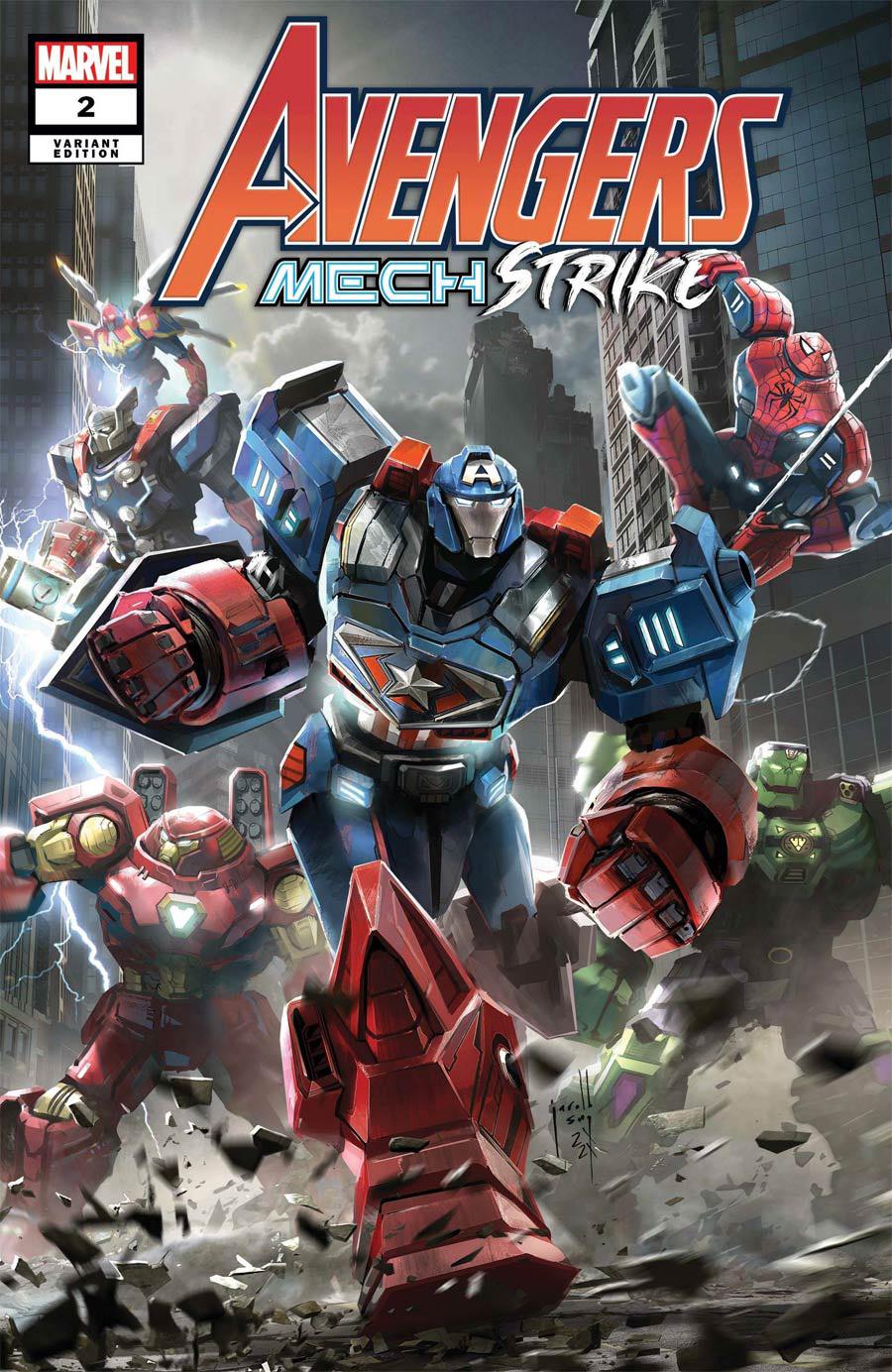 Avengers Mech Strike #2 Cover B Variant Jarold Sng Cover