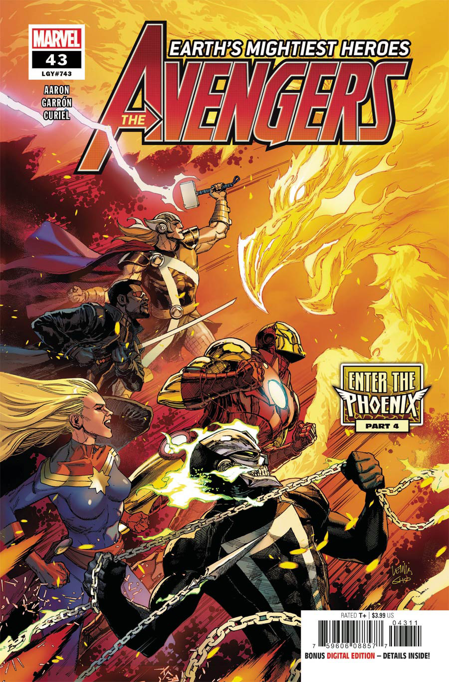 Avengers Vol 7 #43 Cover A Regular Leinil Francis Yu Cover
