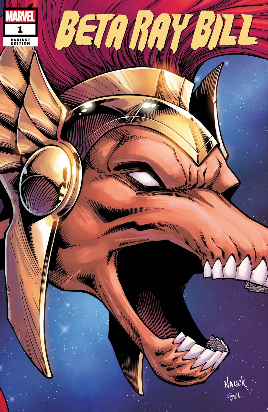 Beta Ray Bill #1 Cover E Variant Todd Nauck Headshot Cover (King In Black Tie-In)