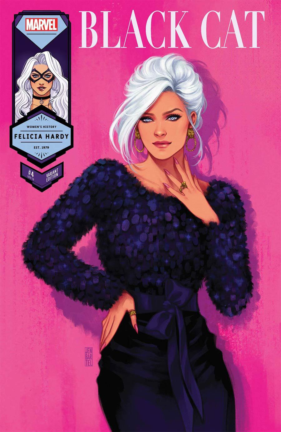 Black Cat Vol 2 #4 Cover B Variant Jen Bartel Black Cat Womens History Month Cover