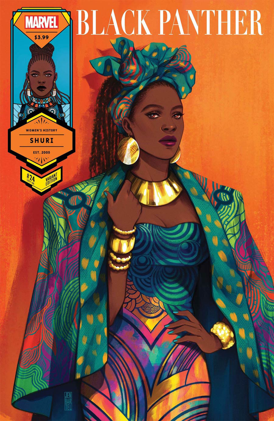 Black Panther Vol 7 #24 Cover B Variant Jen Bartel Shuri Womens History Month Cover
