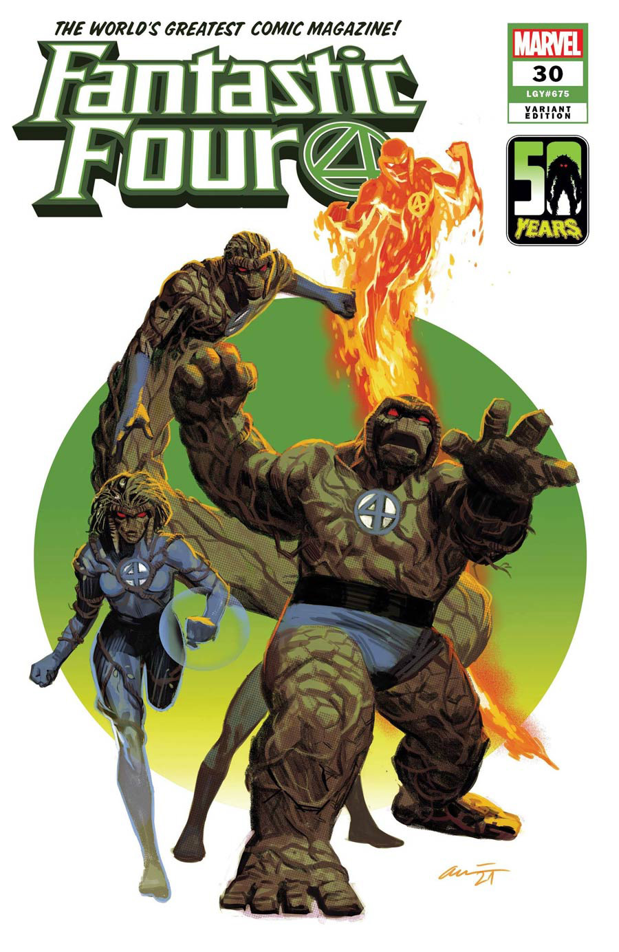 Fantastic Four Vol 6 #30 Cover B Variant Daniel Acuna The Thing-Thing Cover (King In Black Tie-In)