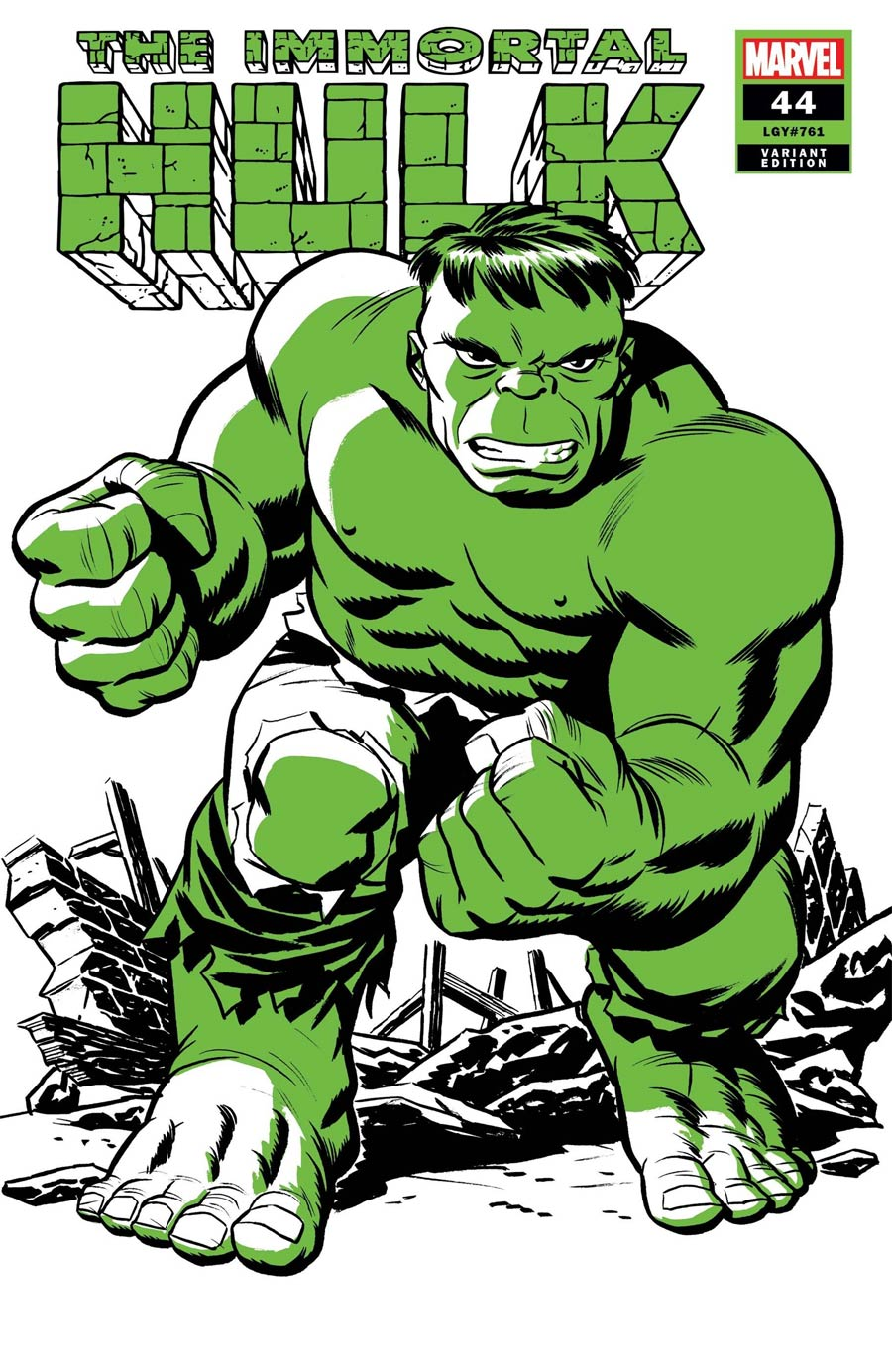 Immortal Hulk #44 Cover C Variant Michael Cho Hulk Two-Tone Cover