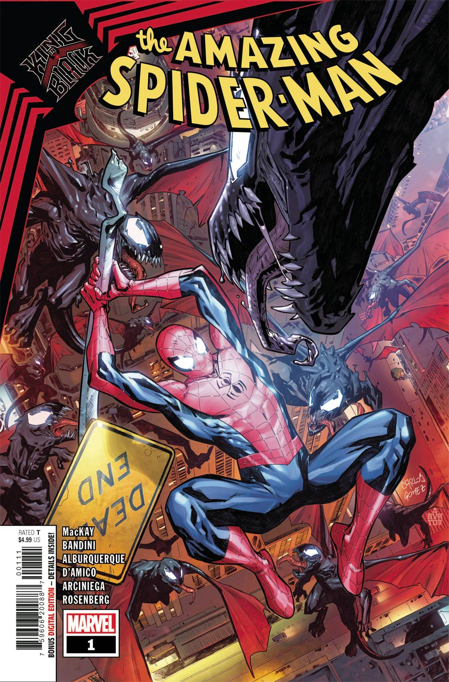 King In Black Spider-Man #1 (One Shot) Cover A Regular Carlos Gomez Cover
