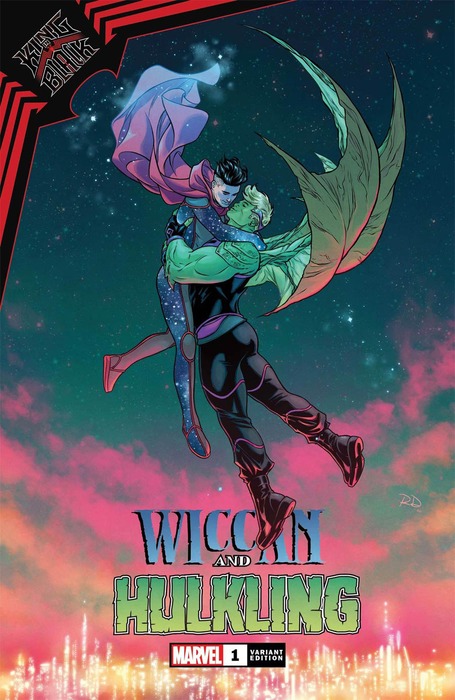 King In Black Wiccan And Hulkling #1 (One Shot) Cover C Variant Russell Dauterman Cover