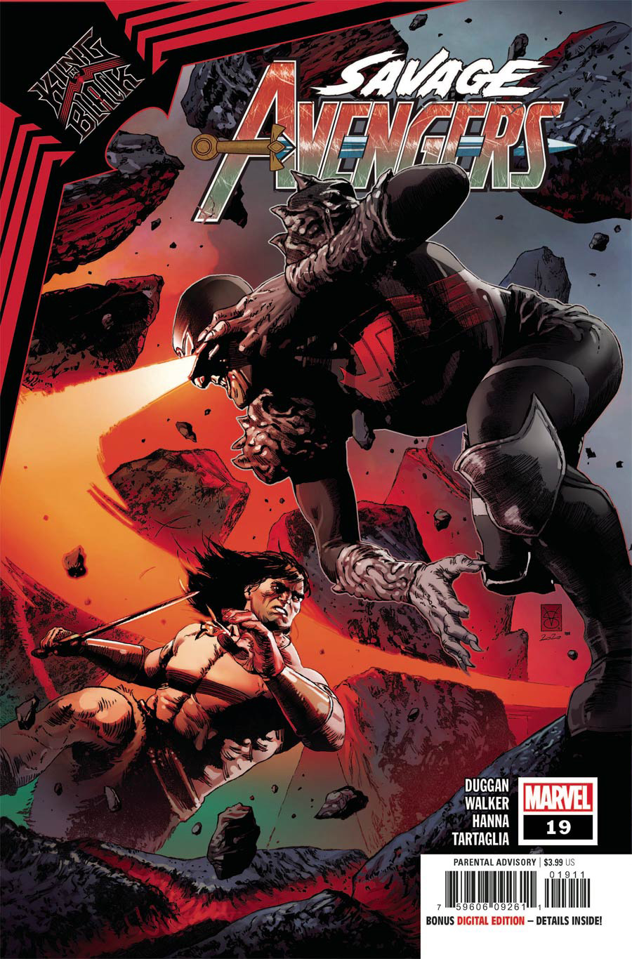 Savage Avengers #19 Cover A Regular Valerio Giangiordano Cover (King In Black Tie-In)