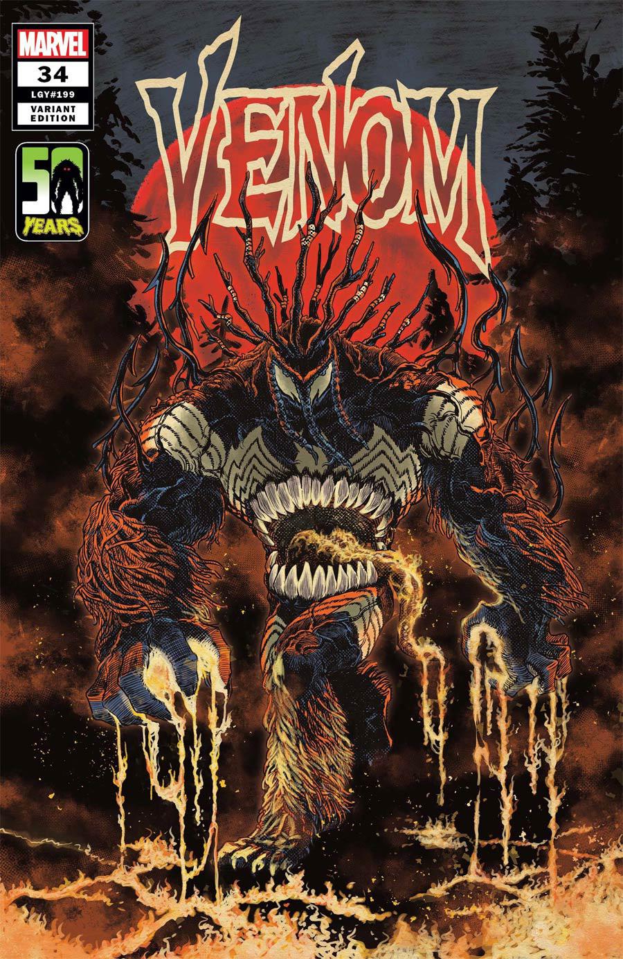 Venom Vol 4 #34 Cover B Variant Superlog Venom-Thing Cover (King In Black Tie-In)
