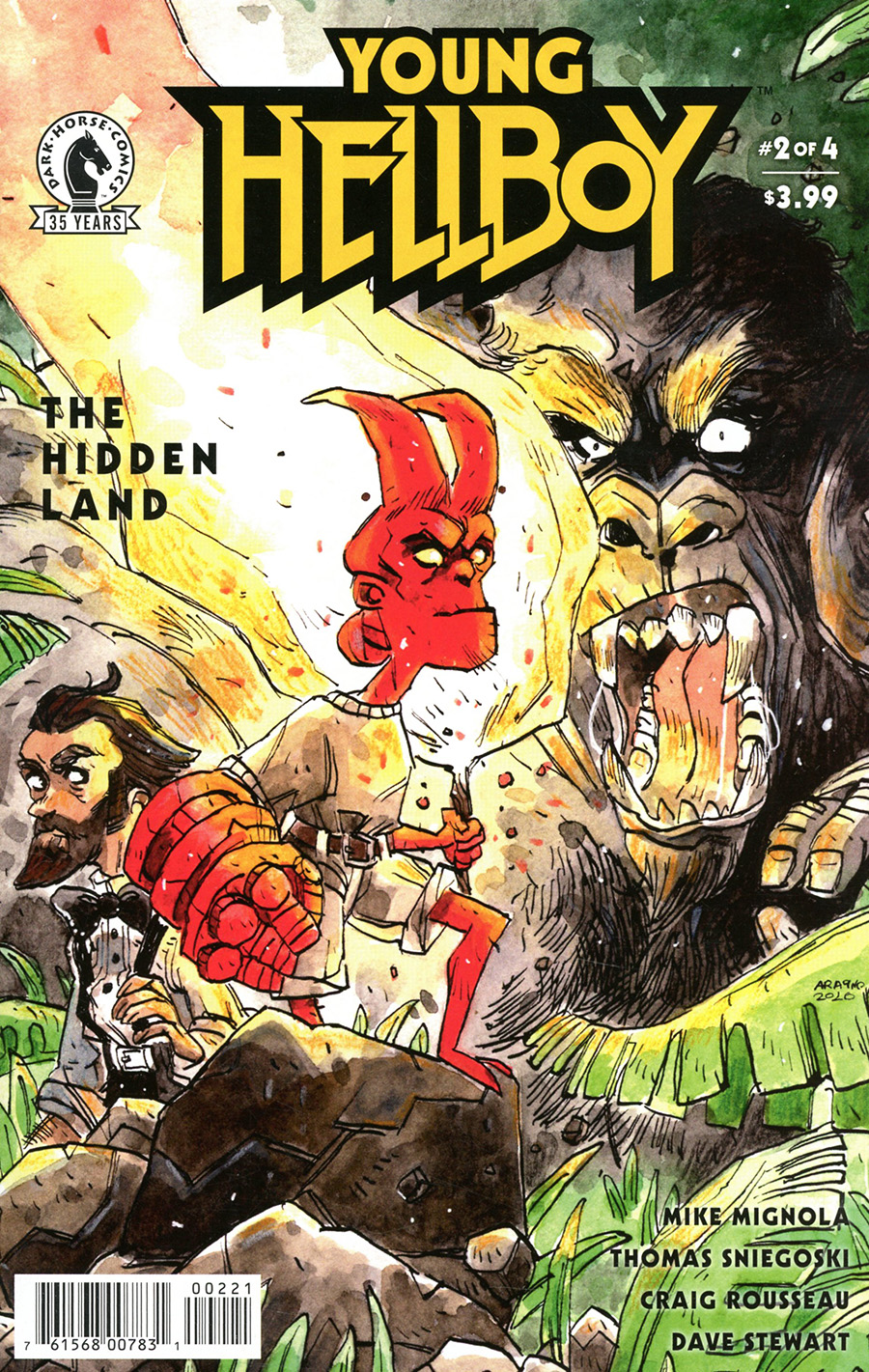 Young Hellboy The Hidden Land #2 Cover B Variant Rachele Aragno Cover