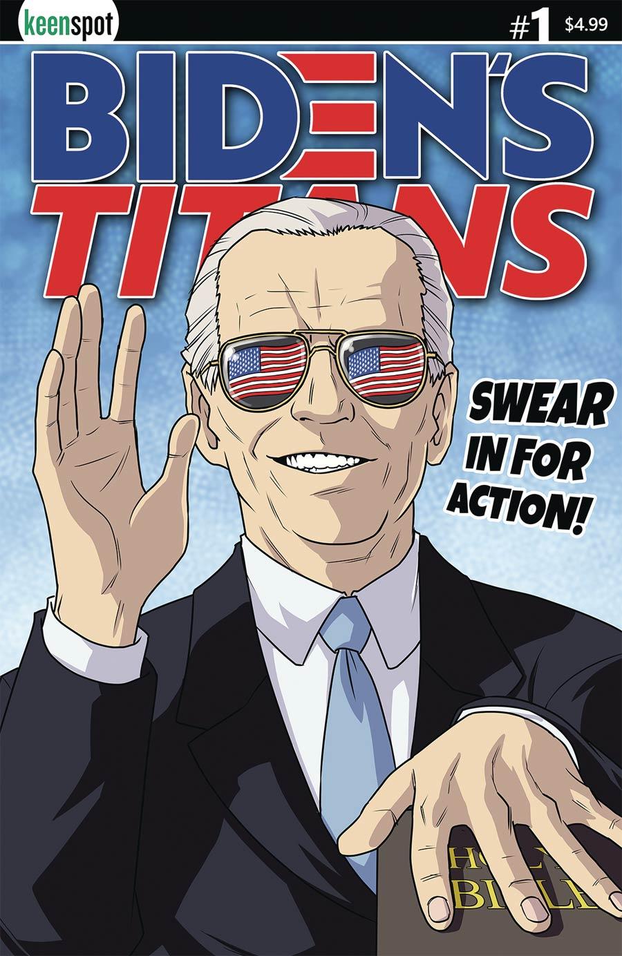 Bidens Titans #1 Cover C Variant Shawn Remulac Cover