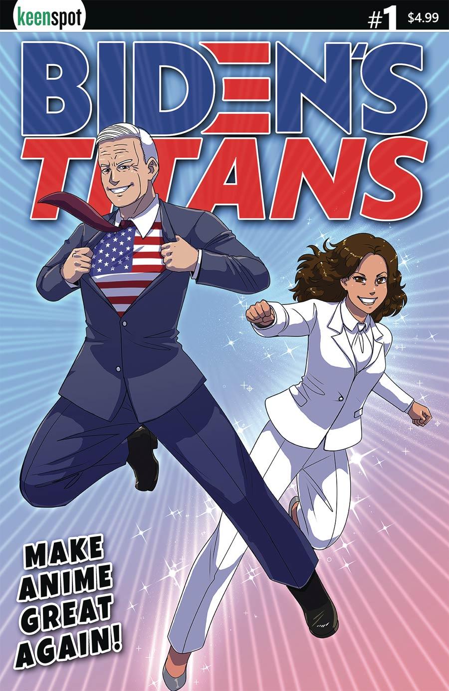 Bidens Titans #1 Cover D Variant John Joseco Cover
