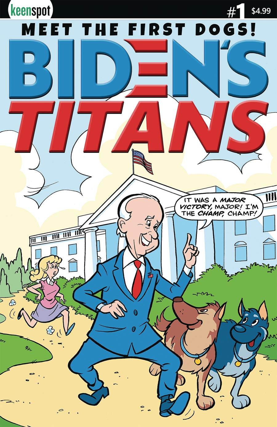 Bidens Titans #1 Cover E Variant Ted Dawson Cover