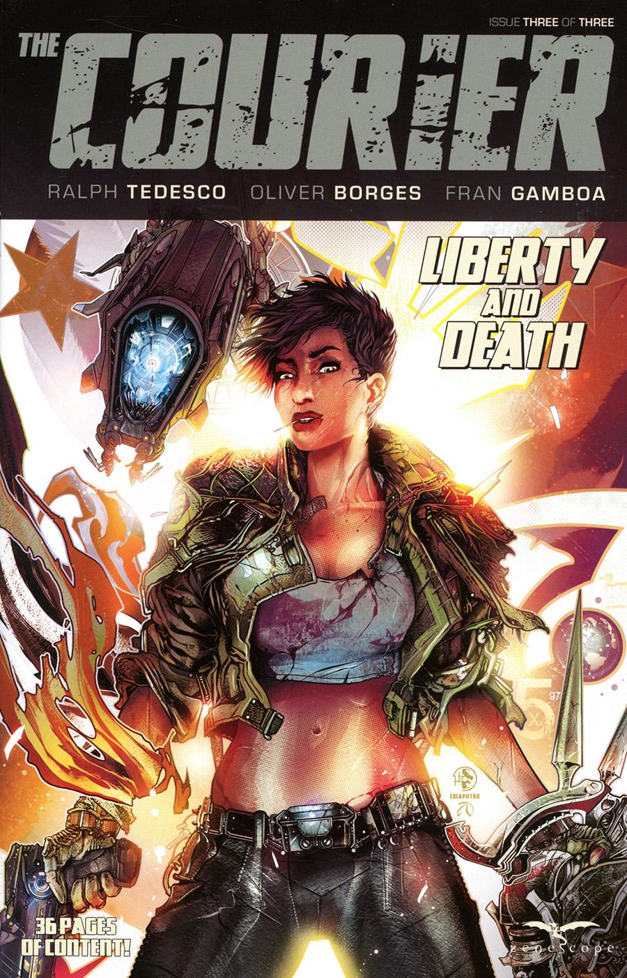 Courier Liberty And Death #3 Cover A Leonardo Colapietro