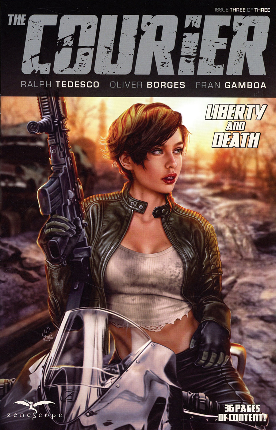 Courier Liberty And Death #3 Cover B Nelly Jimenez