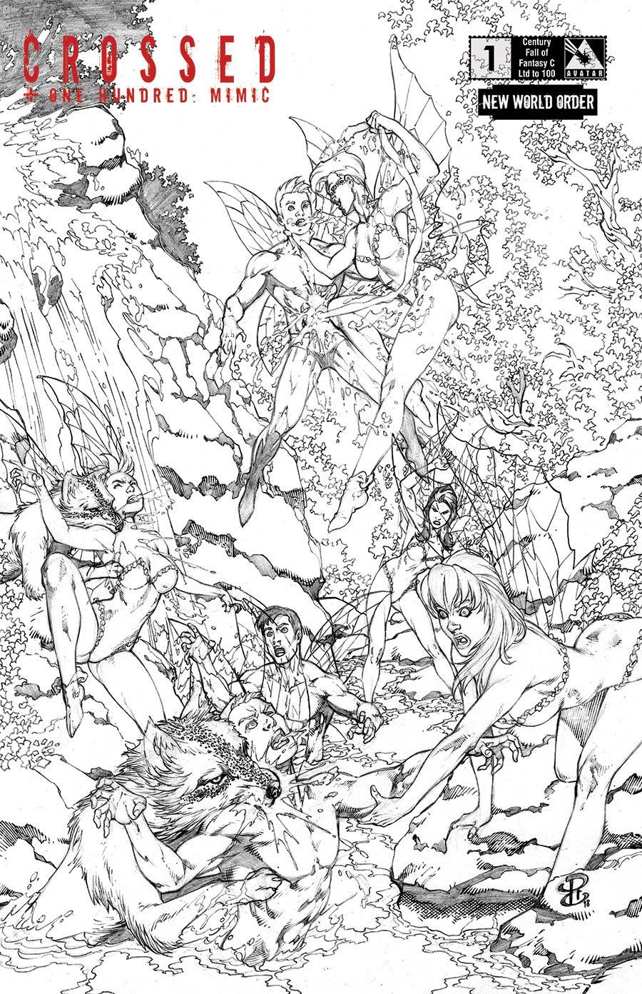 Crossed Plus 100 Mimic #1 Cover O NWO Century Fall Of Fantasy C Cover