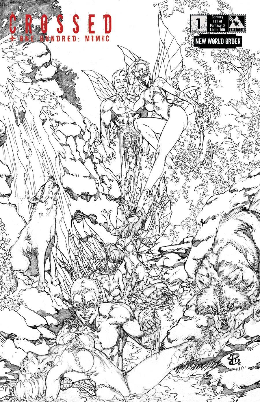 Crossed Plus 100 Mimic #1 Cover P NWO Century Fall Of Fantasy D Cover