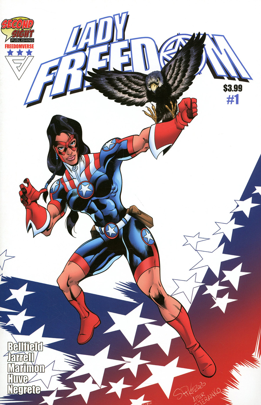 Lady Freedom #1 Cover A Regular Spike Jarrell Cover