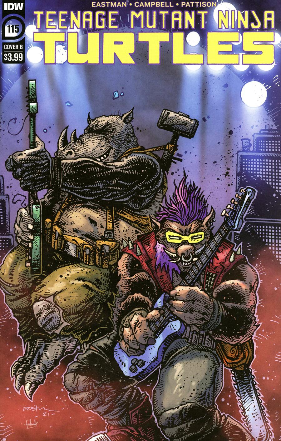 Teenage Mutant Ninja Turtles Vol 5 #115 Cover B Variant Kevin Eastman Cover