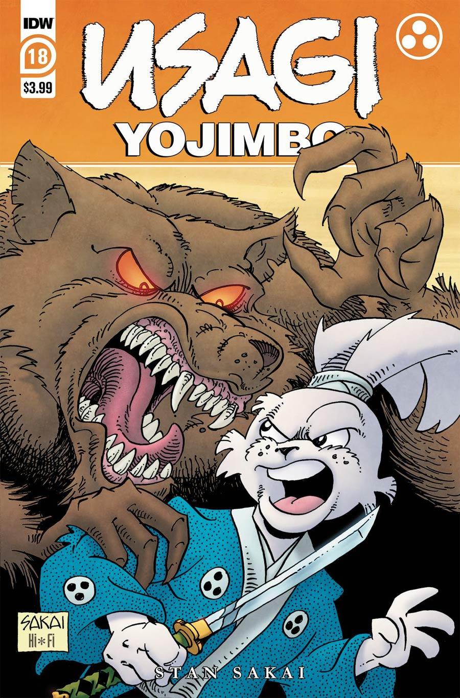 Usagi Yojimbo Vol 4 #18 Cover A Regular Stan Sakai Cover