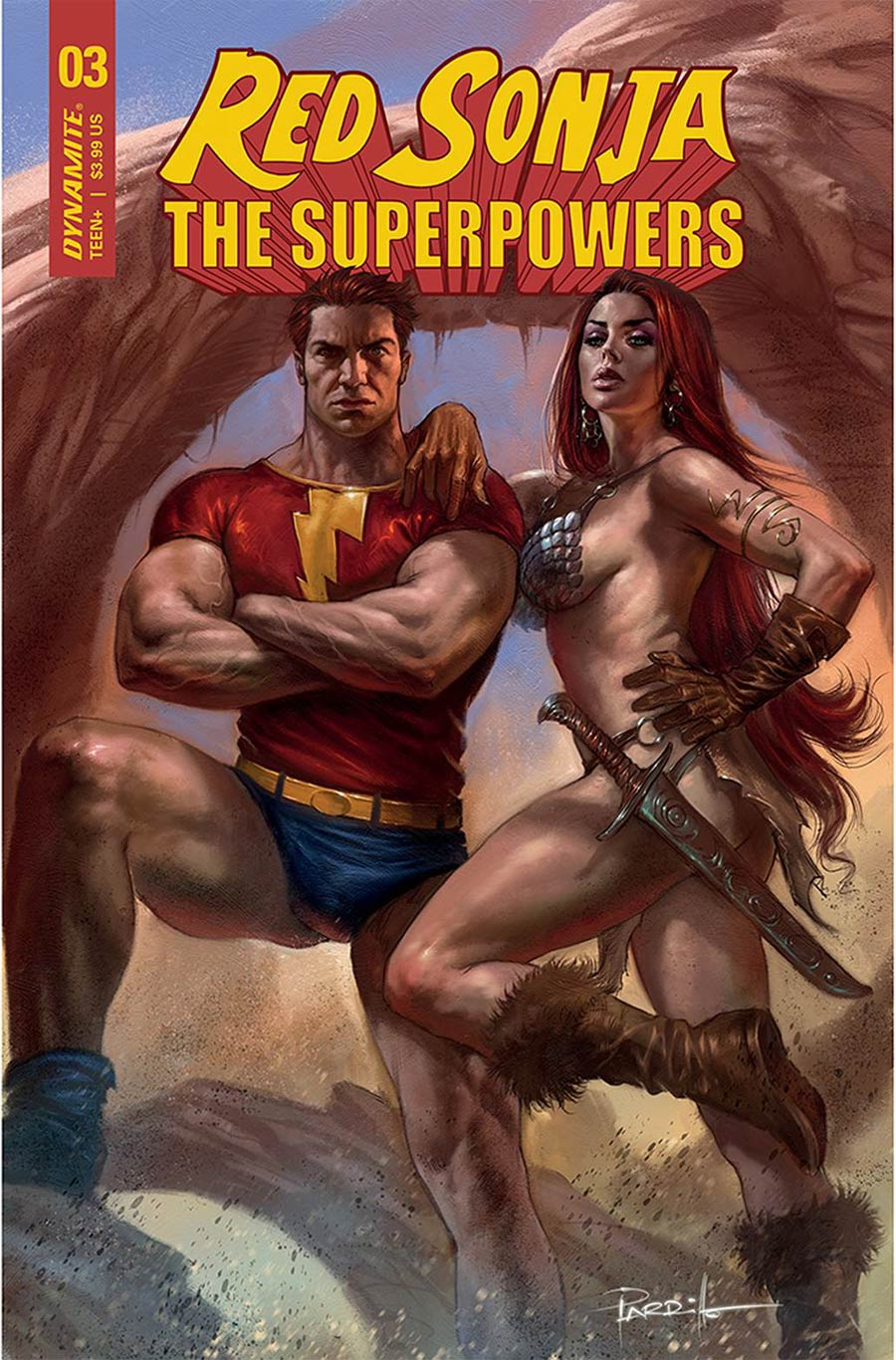 Red Sonja The Superpowers #3 Cover A Regular Lucio Parrillo Cover