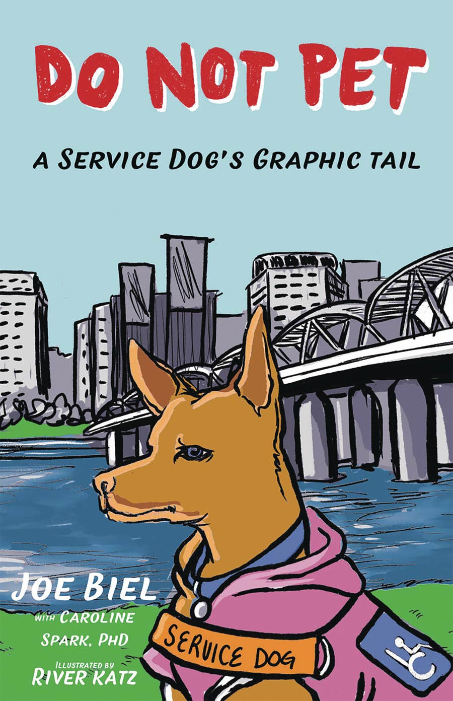 Do Not Pet A Service Dogs Graphic Tail TP
