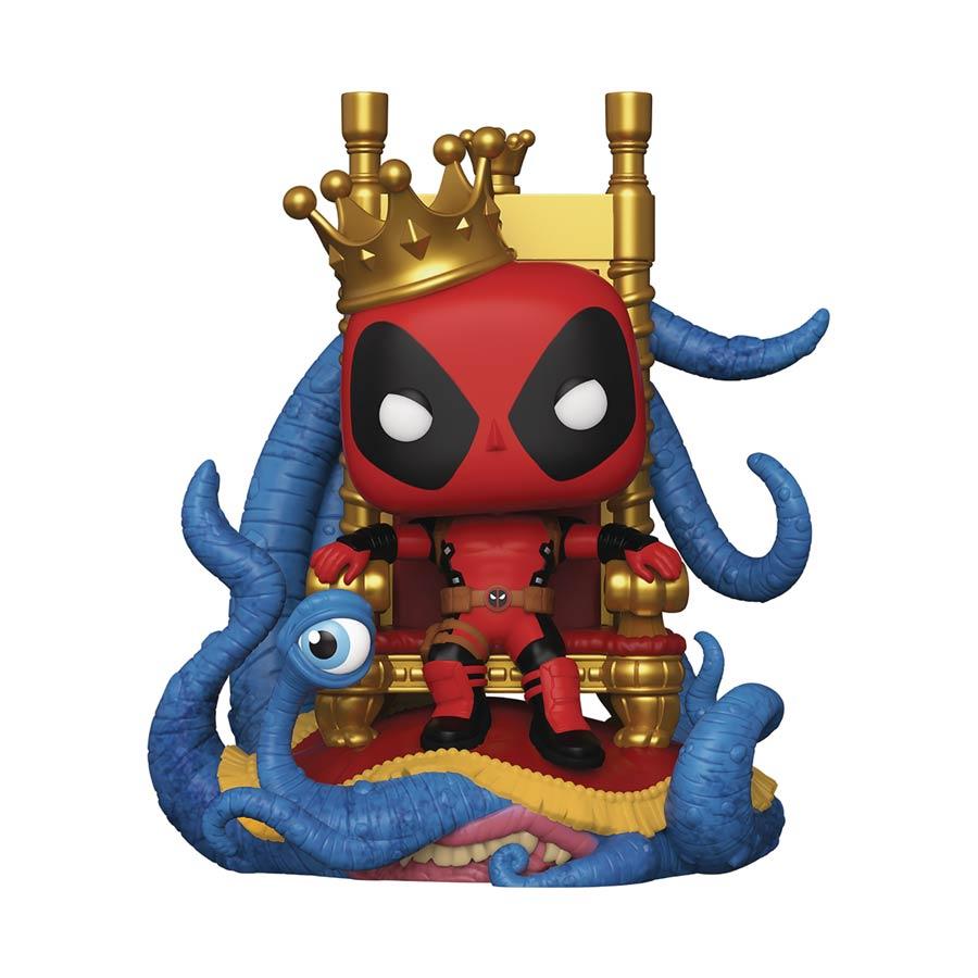 POP Marvel Heroes King Deadpool On Throne Deluxe Previews Exclusive Vinyl Bobble Head