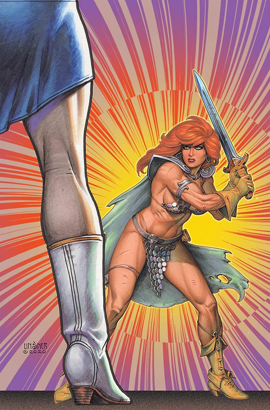 Red Sonja The Superpowers #3 Cover S Limited Edition Joseph Michael Linsner Virgin Cover