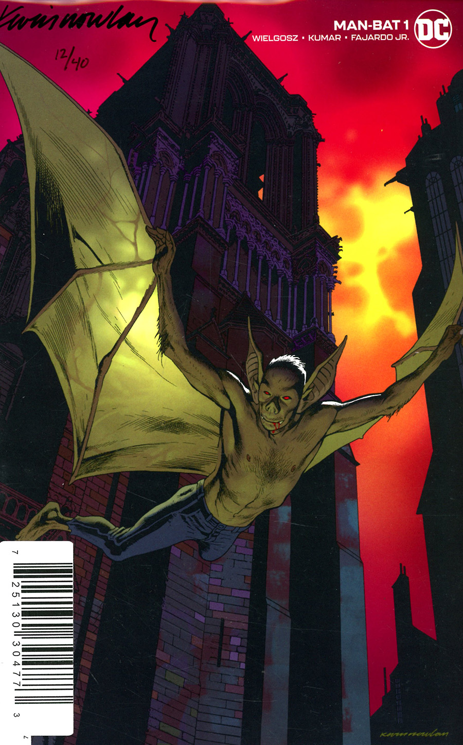 Man-Bat Vol 4 #1 Cover C DF Signed By Kevin Nowlan