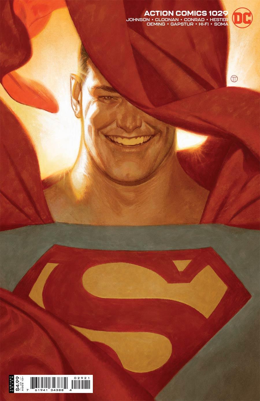 Action Comics Vol 2 #1029 Cover B Variant Julian Totino Tedesco Cover