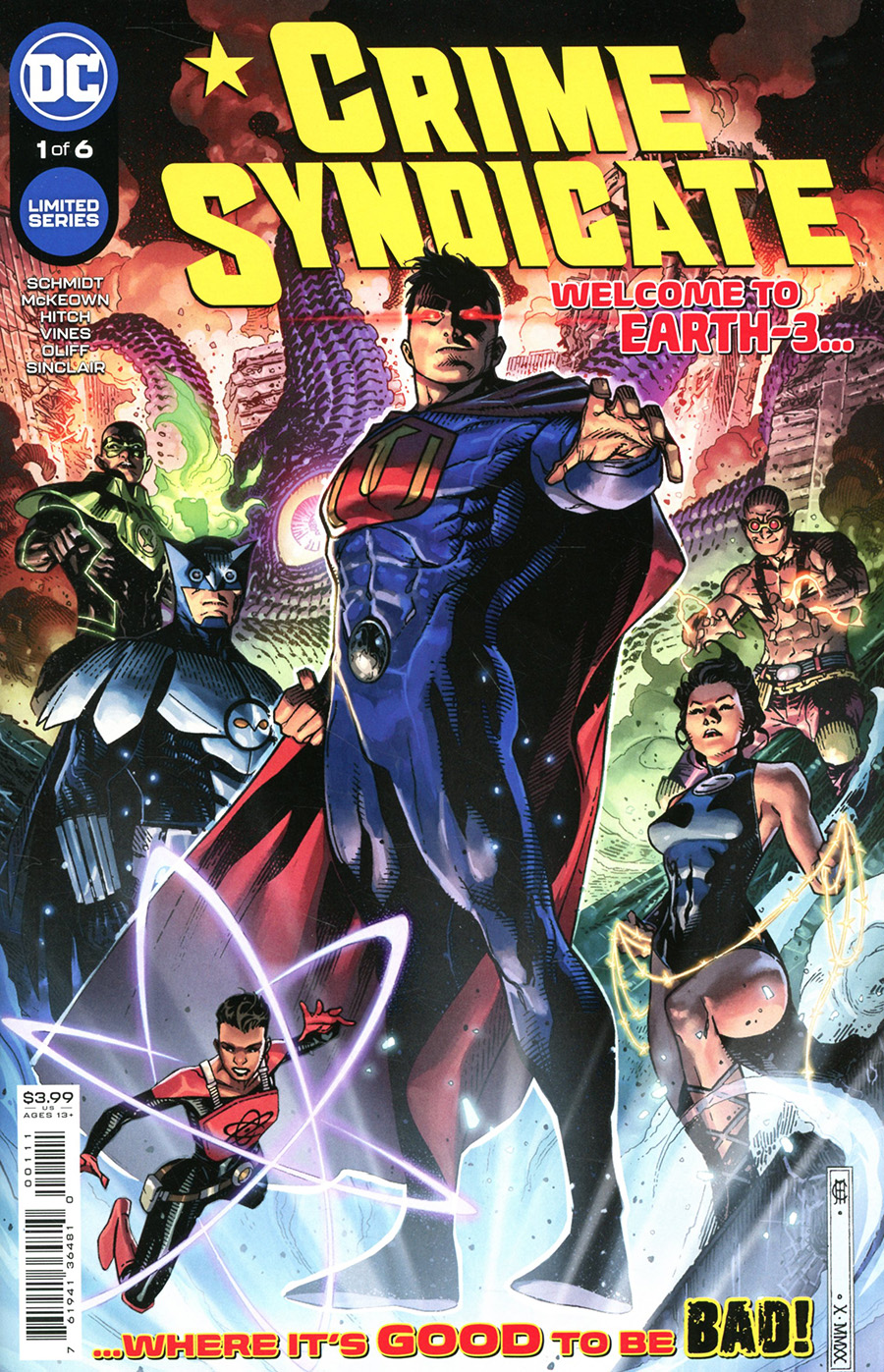 Crime Syndicate #1 Cover A Regular Jim Cheung Cover