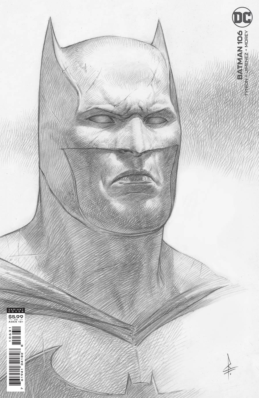 Batman Vol 3 #106 Cover C Incentive Riccardo Federici Card Stock Variant Cover (Limit 1 Per Customer)