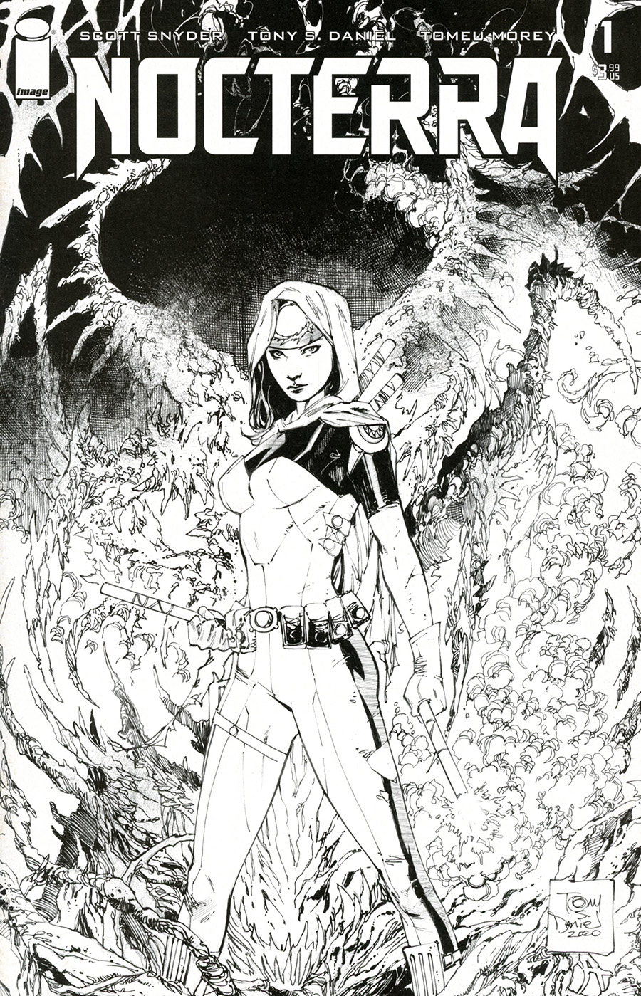 Nocterra #1 Cover K Incentive Tony S Daniel Black & White Cover