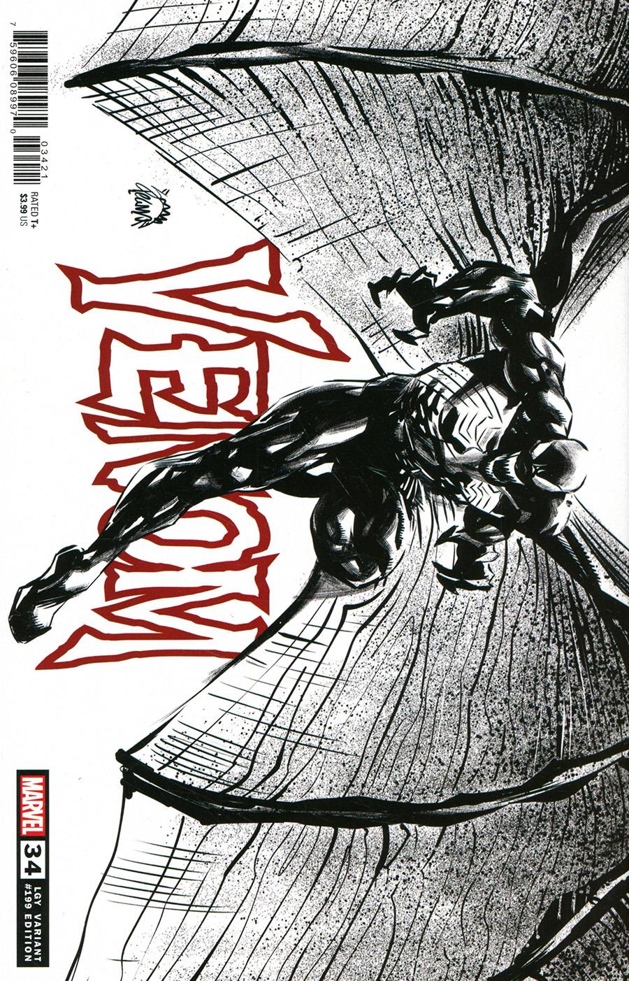 Venom Vol 4 #34 Cover D Incentive Ryan Stegman Sketch Cover (King In Black Tie-In)