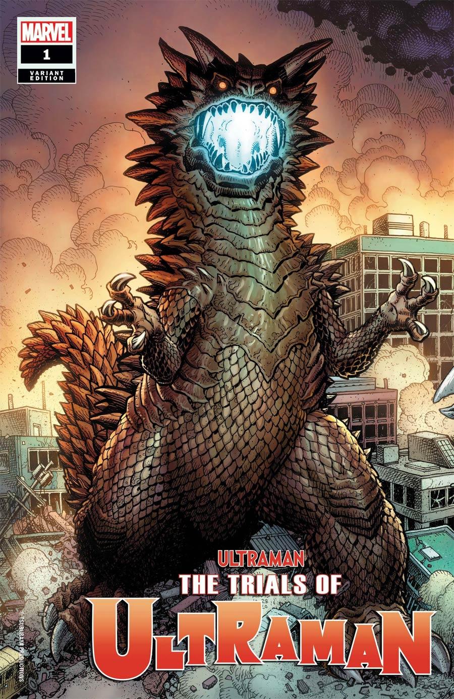 Ultraman Trials Of Ultraman #1 Cover G Incentive Arthur Adams Kaiju Variant Cover