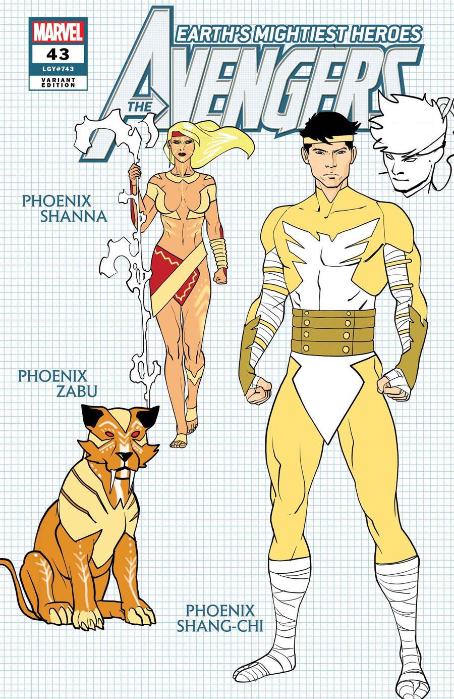 Avengers Vol 7 #43 Cover F Incentive Javier Garron Design Variant Cover