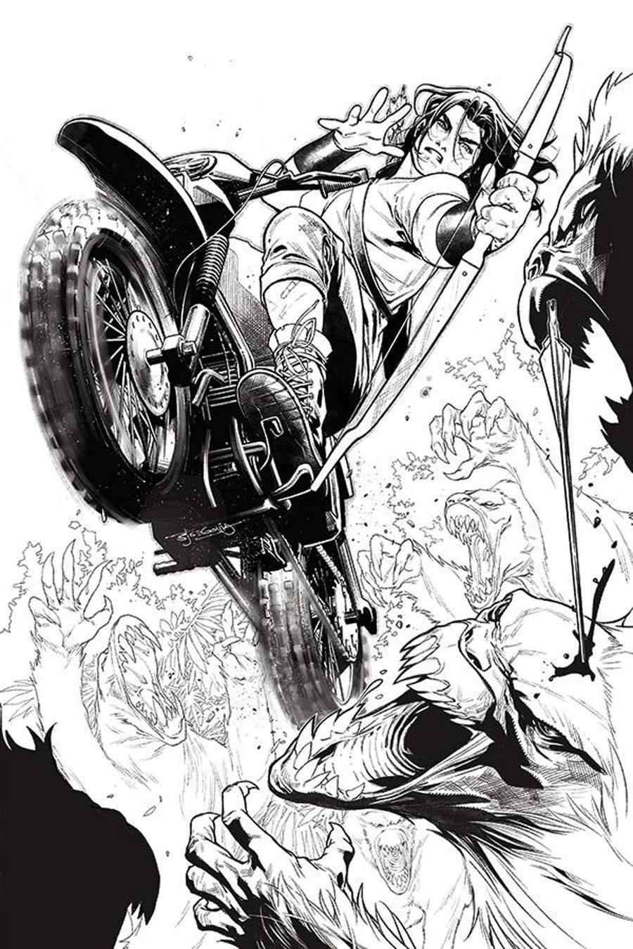 Gung-Ho Sexy Beast #3 Cover F Incentive Stephen Segovia Black & White Cover