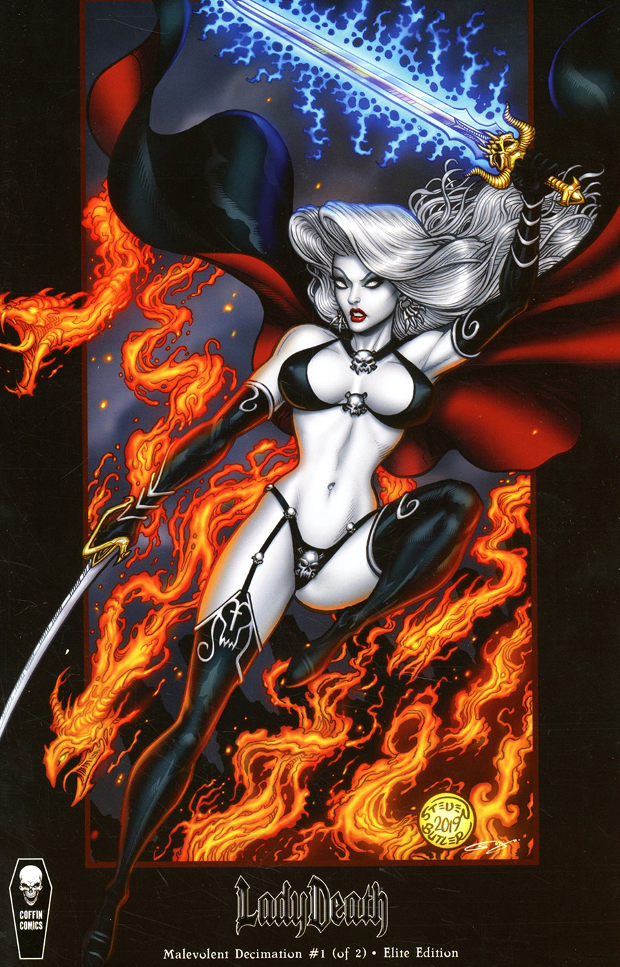 Lady Death Malevolent Decimation #1 Cover E Incentive Steven Butler Elite Variant Cover