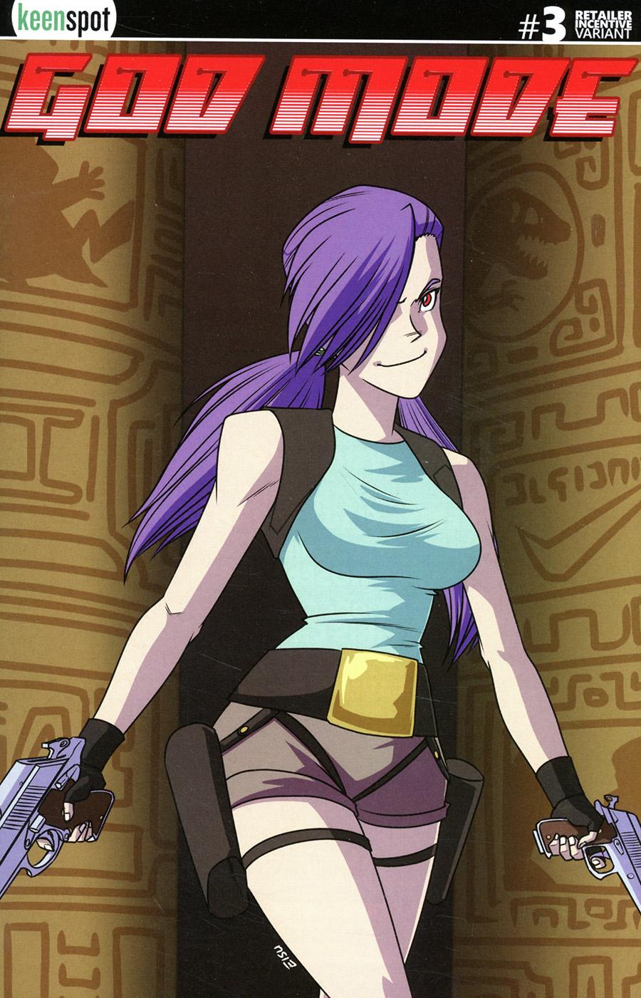 God Mode #3 Cover B Incentive Remy Eisu Mokhtar Tomb Raider Parody Variant Cover