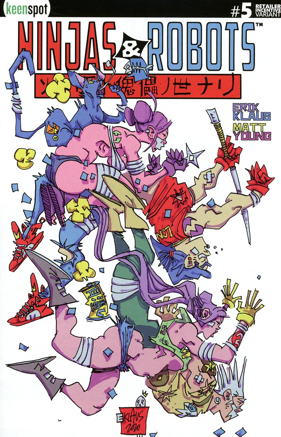 Ninjas And Robots #5 Cover C Incentive Erik Klaus Variant Cover