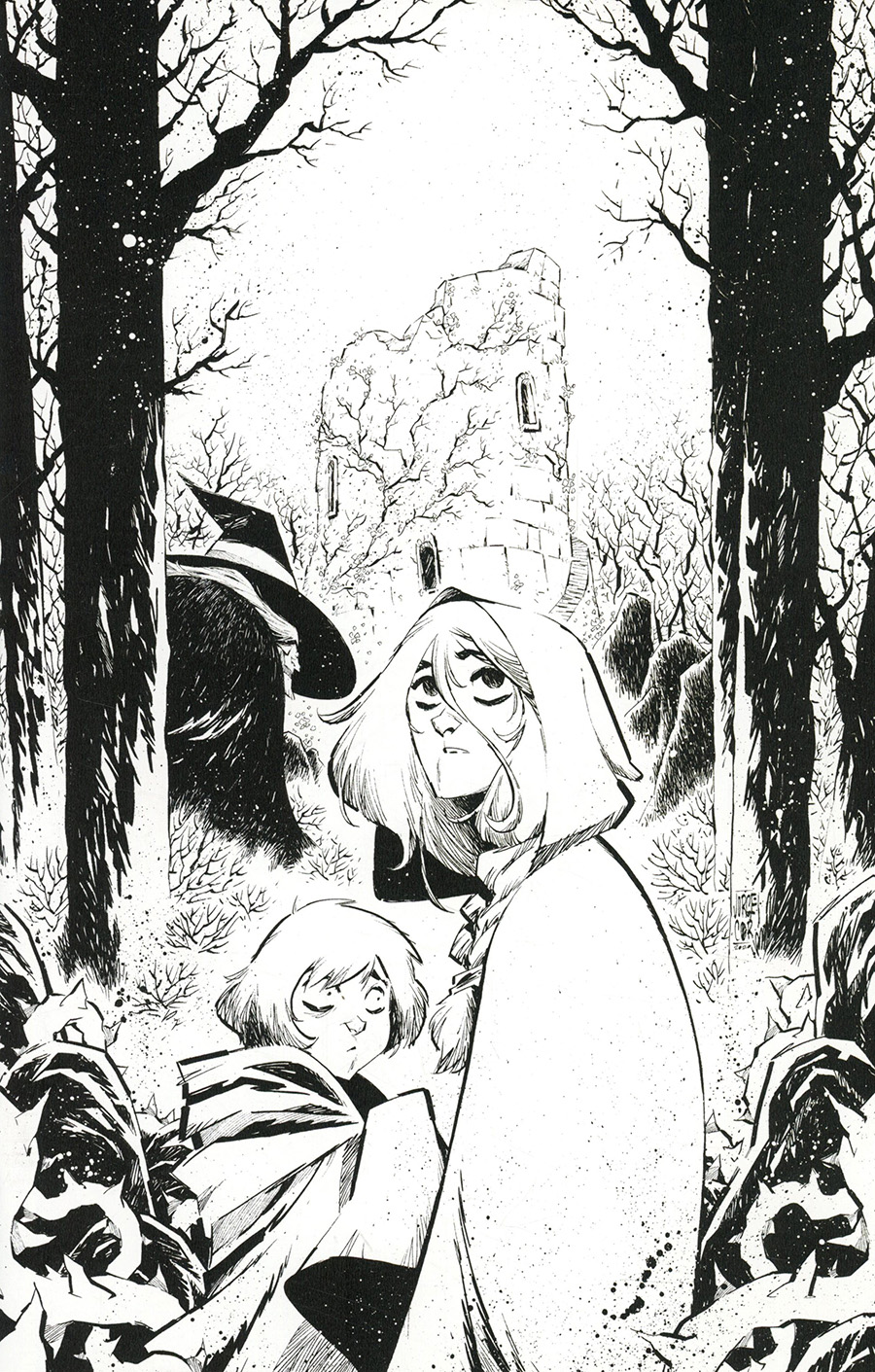 Last Witch #1 Cover E Incentive Jorge Corona Black & White Thank You Virgin Cover