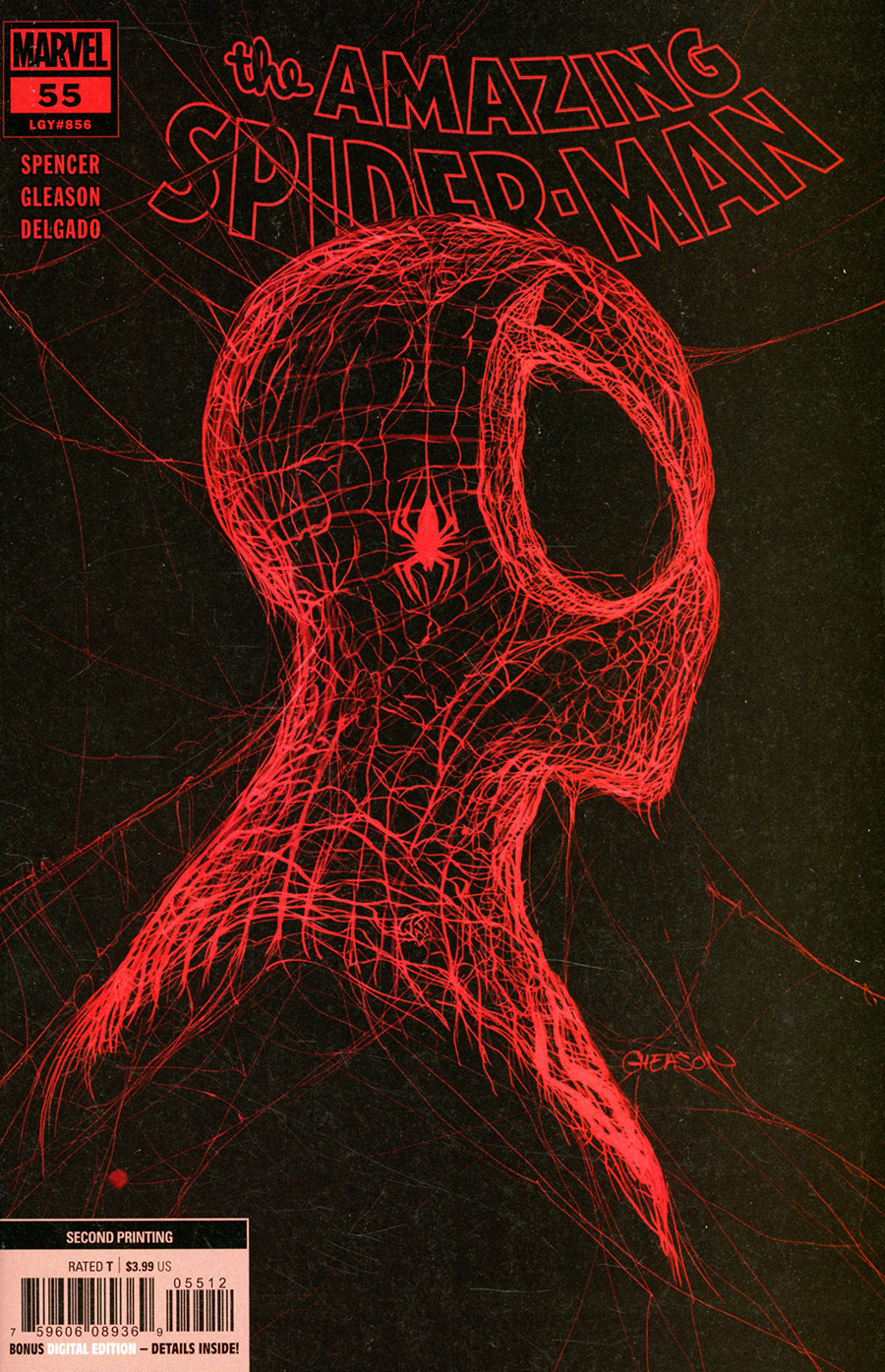 Amazing Spider-Man Vol 5 #55 Cover G 2nd Ptg Patrick Gleason Webhead Red On Black Variant Cover