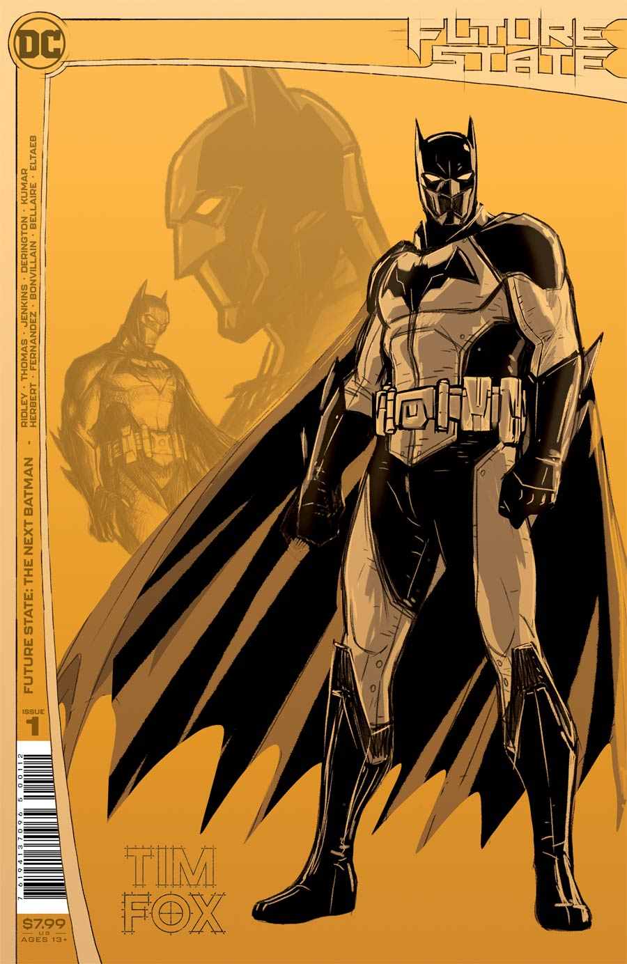 Future State The Next Batman #1 Cover F 2nd Ptg Nick Derington Design Variant Cover