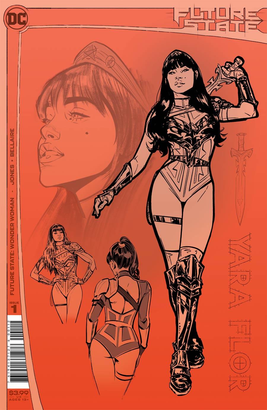 Future State Wonder Woman #1 Cover E 2nd Ptg Joelle Jones Design Variant Cover