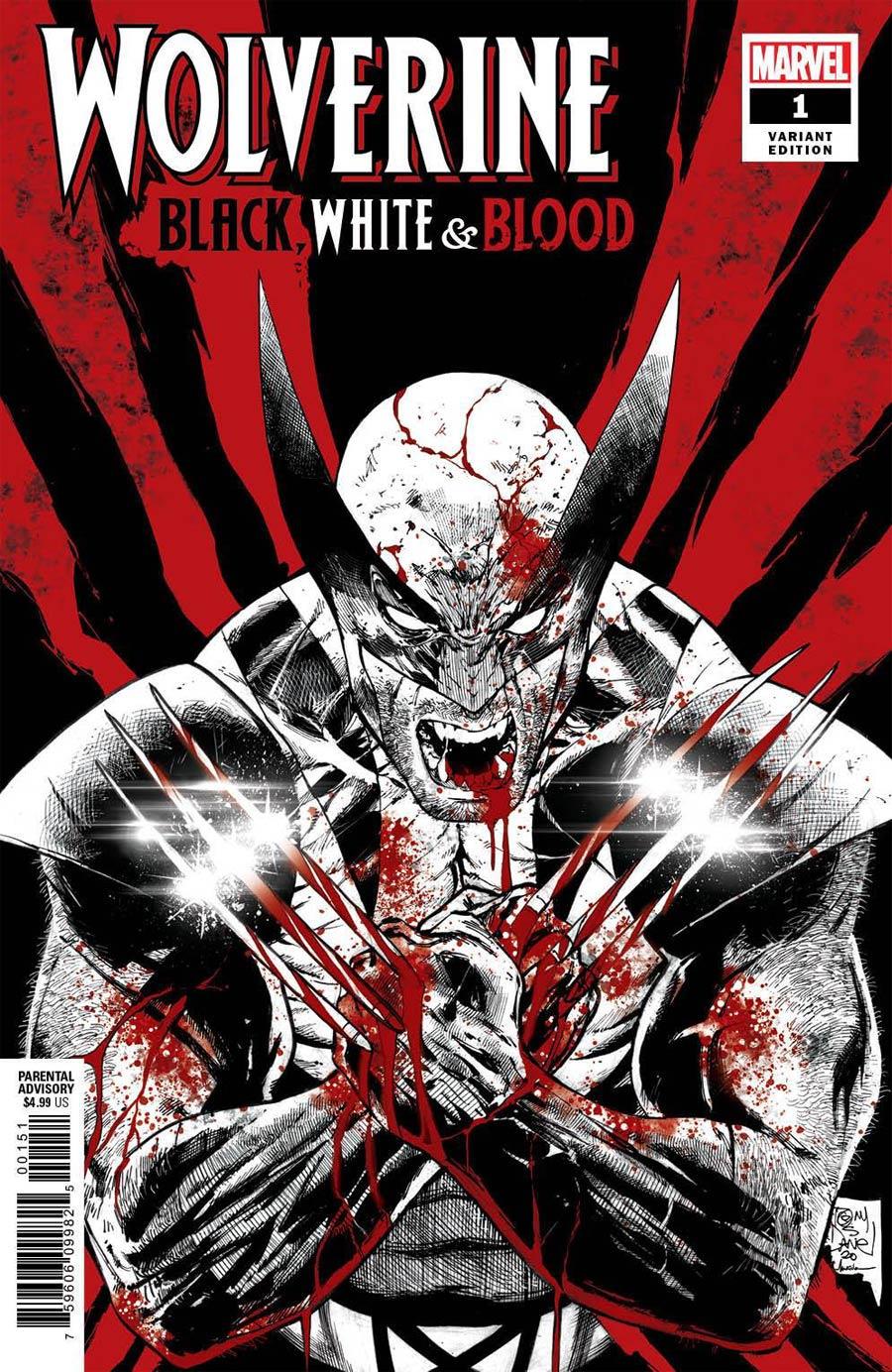 Wolverine Black White & Blood #1 MISPRINT Cover C Incentive Tony S Daniel Variant Cover